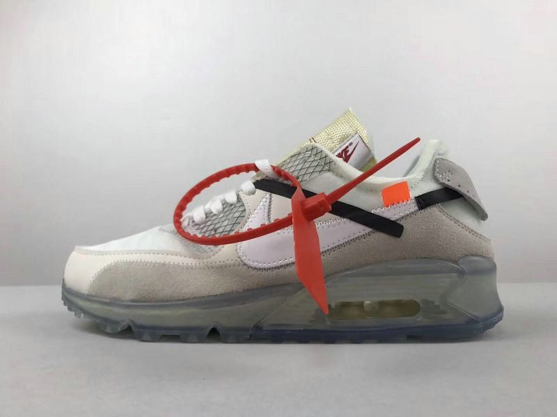 finest selection 2aa27 e8bb3 2018 Official Couple OFF White blanc X Nike Air Max 90 Off White blanc  Youth Big Boys Shoes