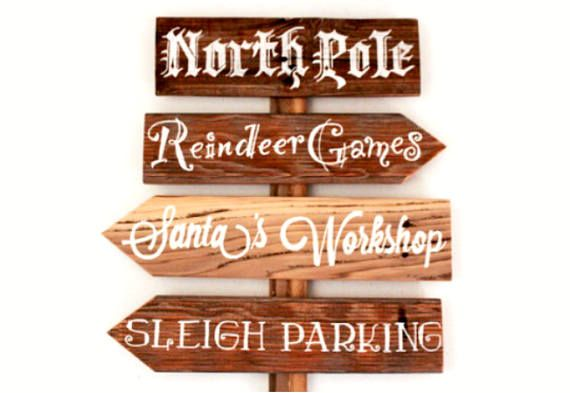 This set of Rustic, Handmade Signs features Handwritten cursive - wood christmas decorations