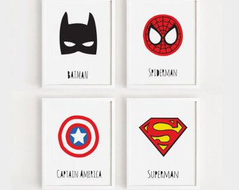 SuperheldenKunst für Kinder Kunst Printables Kindergarten