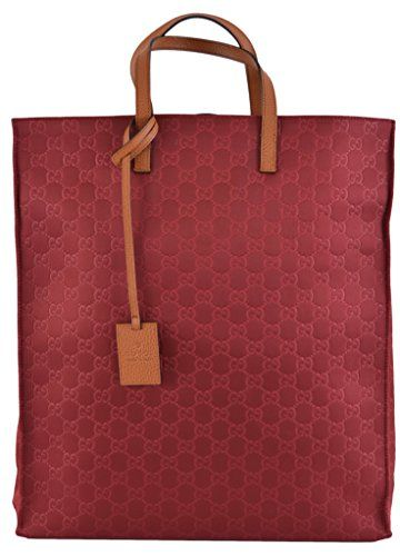 93719c7895e Gucci Women s Burgundy Red Nylon GG Guccissima Large Week ...