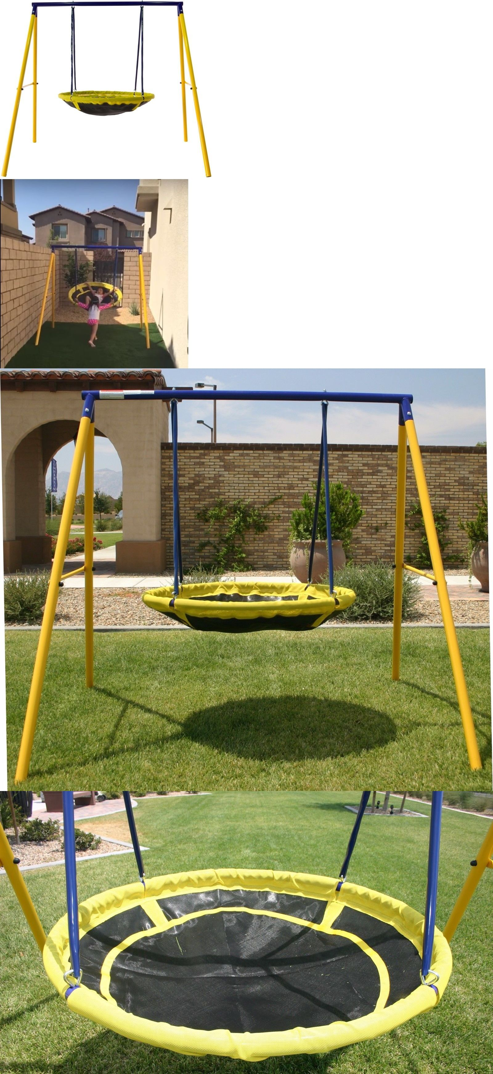 swings slides and gyms 16515 saucer ufo swing set for 1 or 2