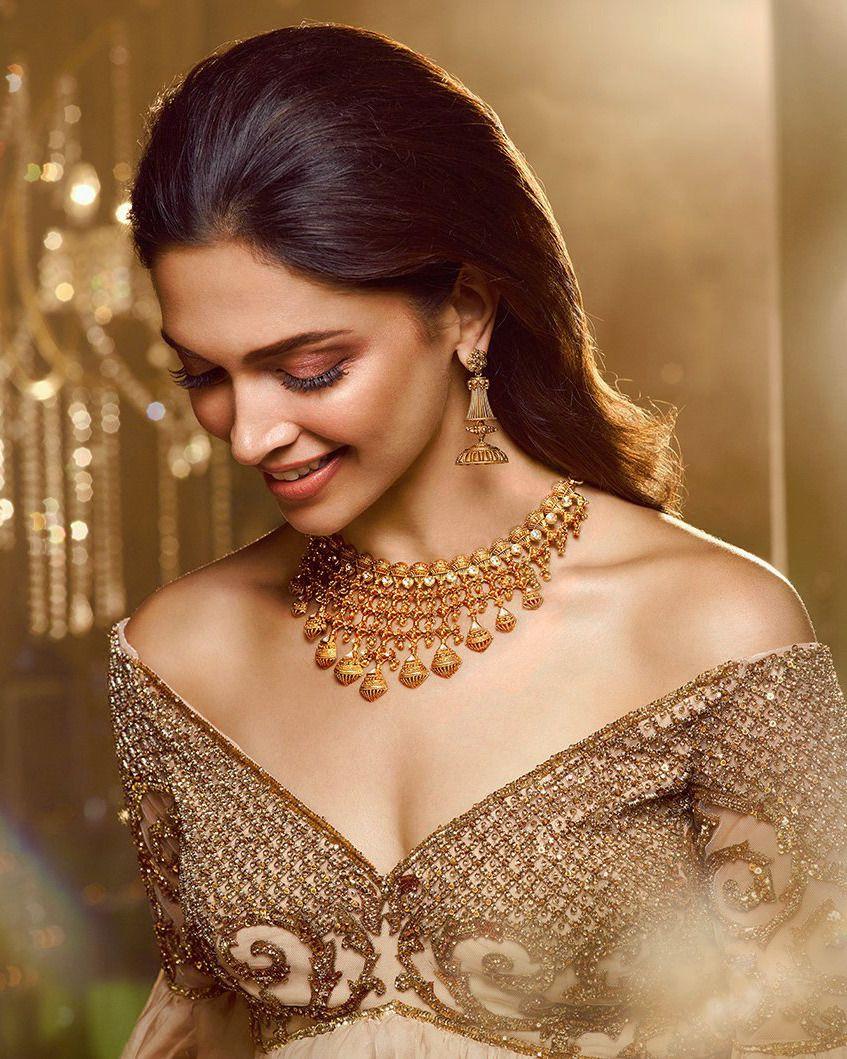 Deepika Padukone For Tanishq Utsava 2018 Bridal Jewellery Indian Deepika Padukone Style Beautiful Indian Actress