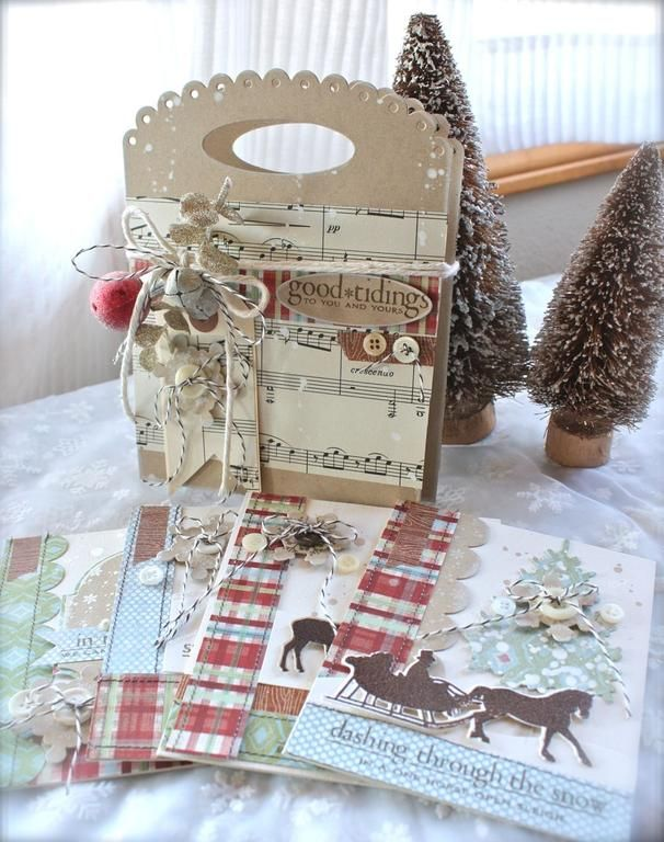 Love these Papertrey Ink Stamped Christmas Cards!