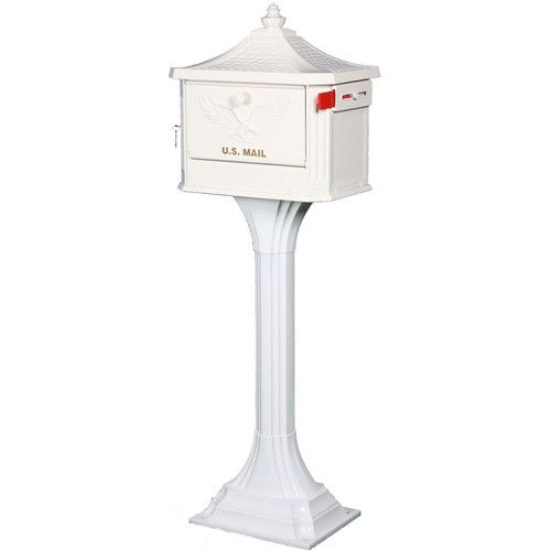 Pedestal All In One Large Aluminum Locking Mailbox Post Combo Black Mounted Mailbox Mailbox Post Mailbox