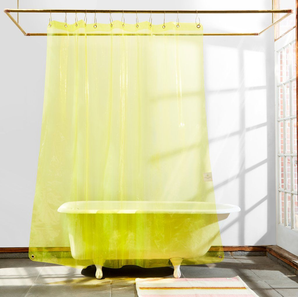 Non Toxic Sun Shower Curtain Transparent Yellow Eva Quiet Town Plastic Shower Curtain Yellow Shower Curtains Curtains