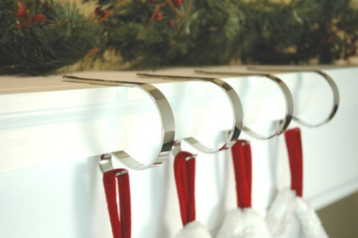 Amazon.com - The Original MantleClip - 4 pack - Non-tarnished Silver - Christmas Stockings