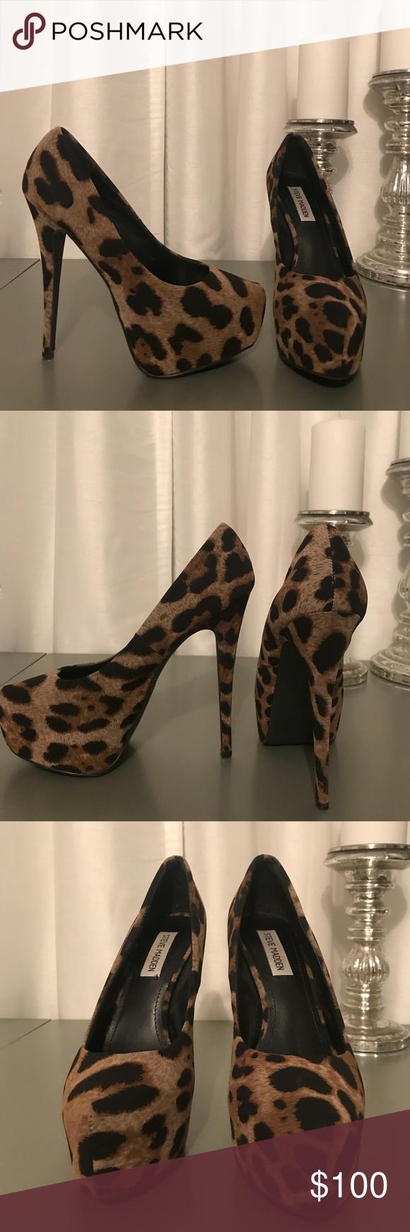 Steve Madden cheetah heels. Cheetah HeelsPlatformsMadden ShoesSteve Madden