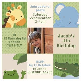 Jungle party invite my son had a jungle cake for his 4th birthday jungle party invite my son had a jungle cake for his 4th birthday stopboris Gallery