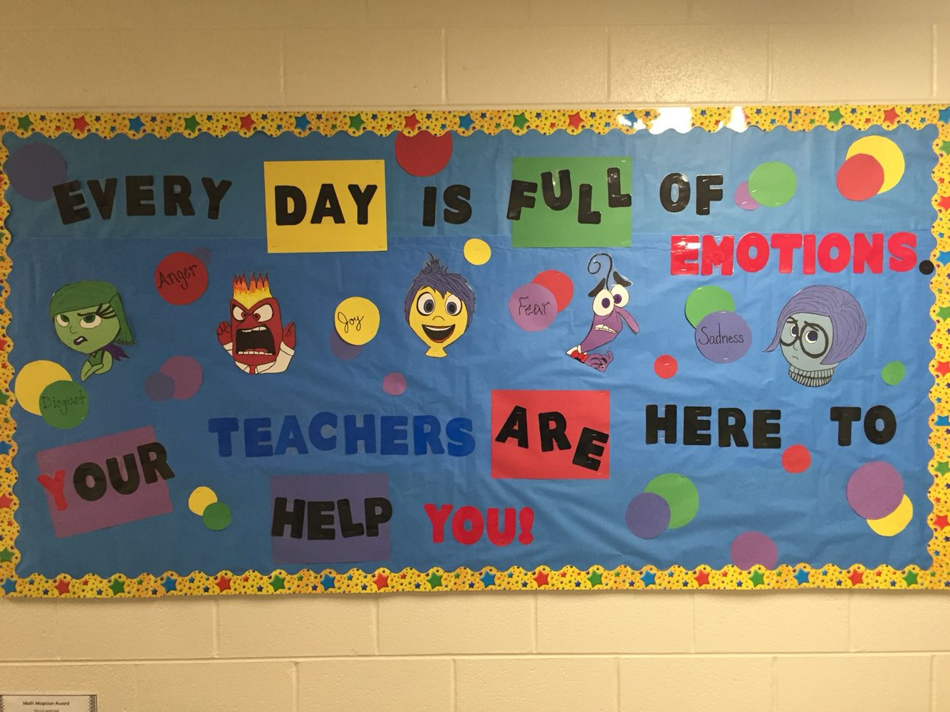 Inside Out Bulletine Board My Class Counselor
