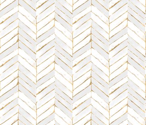 Spoonflower Welcome White And Gold Wallpaper Chevron Wallpaper Herringbone Wallpaper
