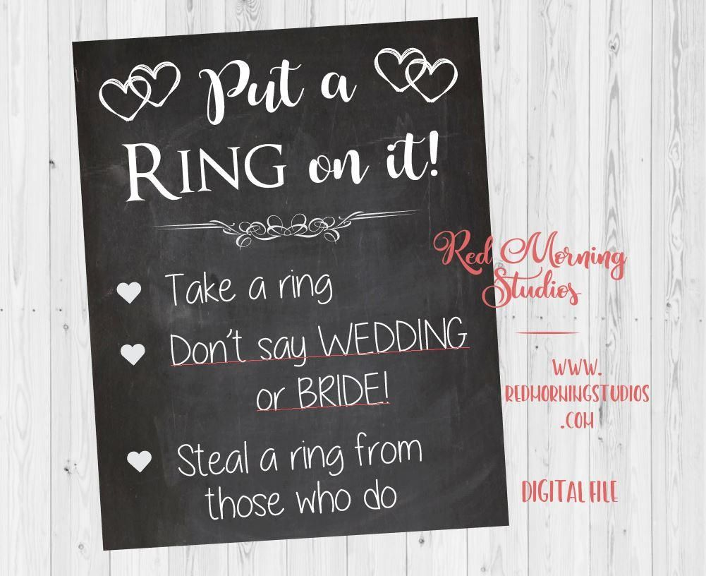 picture about Put a Ring on It Bridal Shower Game Free Printable titled Bridal Shower Ring Sport. PRINTABLE Wedding day Tips within 2019