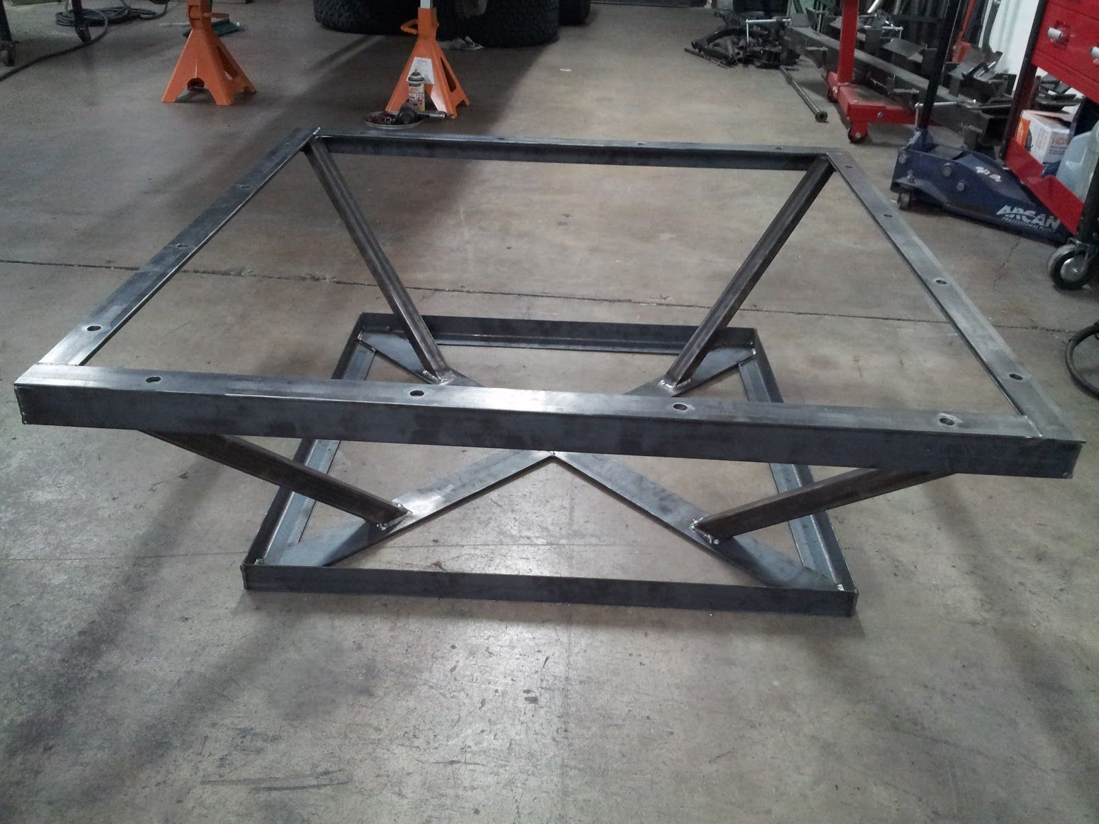 Iron Angle Frame Google Search Coffee Table Frame Steel Table Base Metal Table Legs