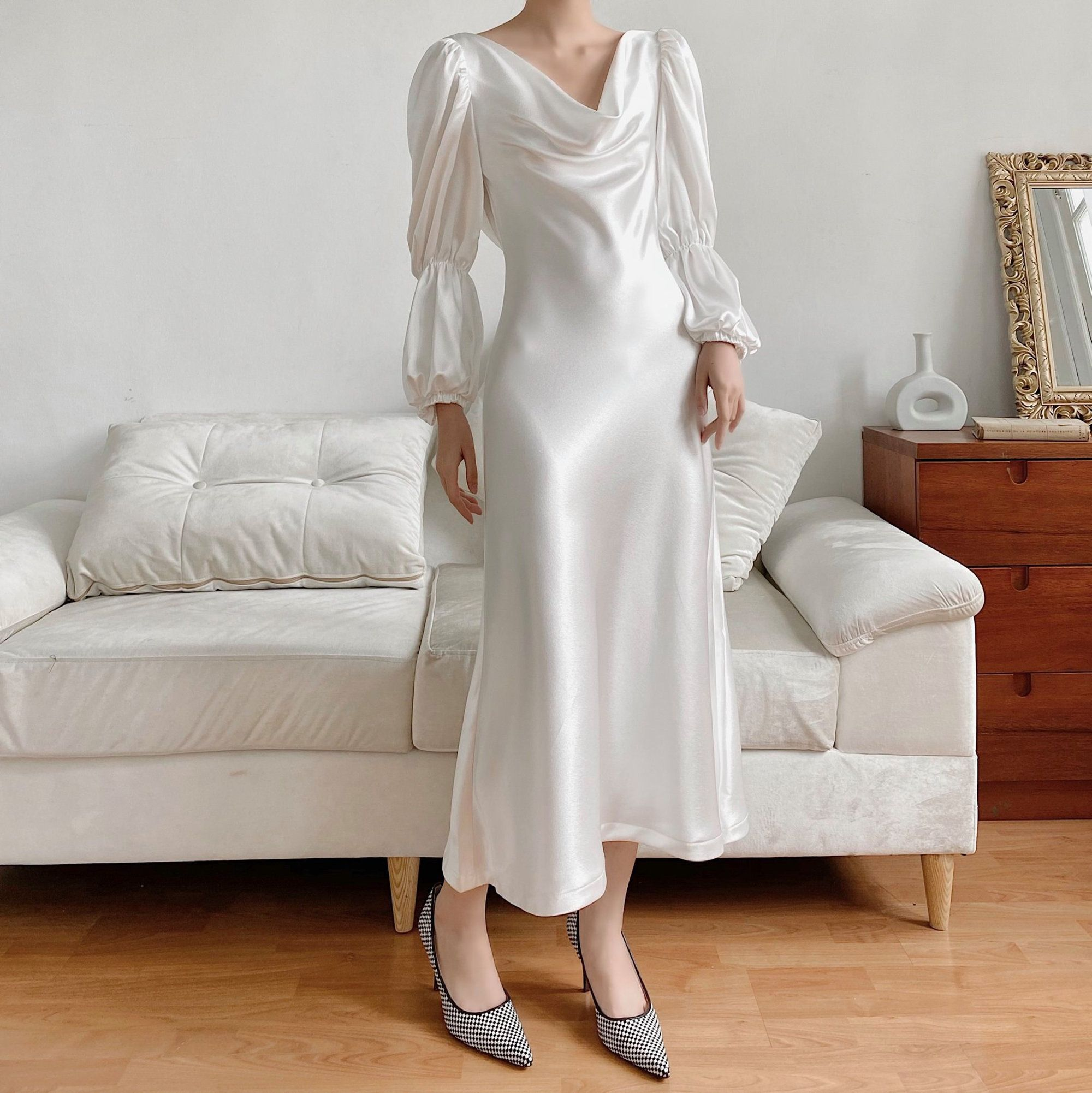 Pin On Silk Dress [ 2002 x 2000 Pixel ]