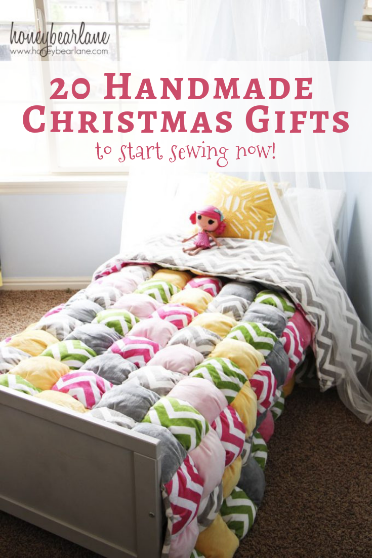 20 Handmade Christmas Gifts To Start Sewing Now!