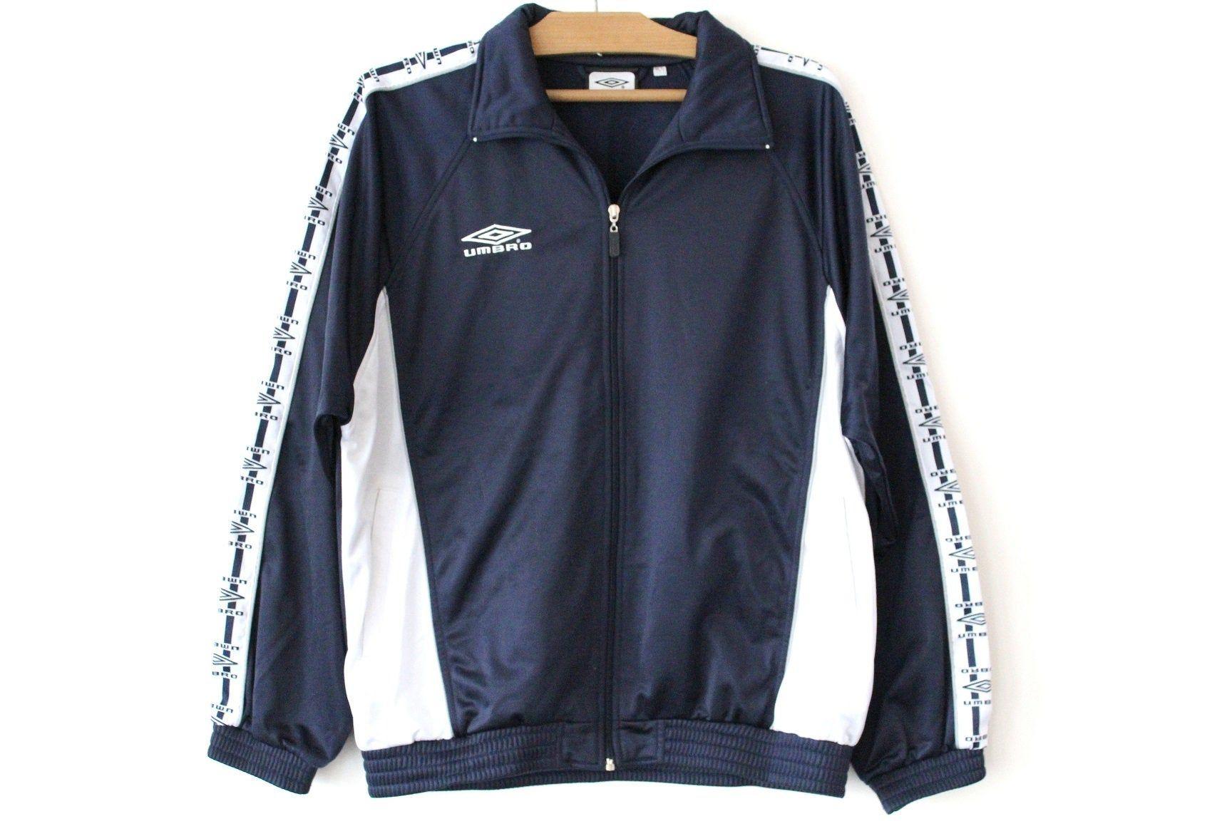 Vintage Blue White Umbro Jacket, 90's Umbro Sweatshirt, Hip