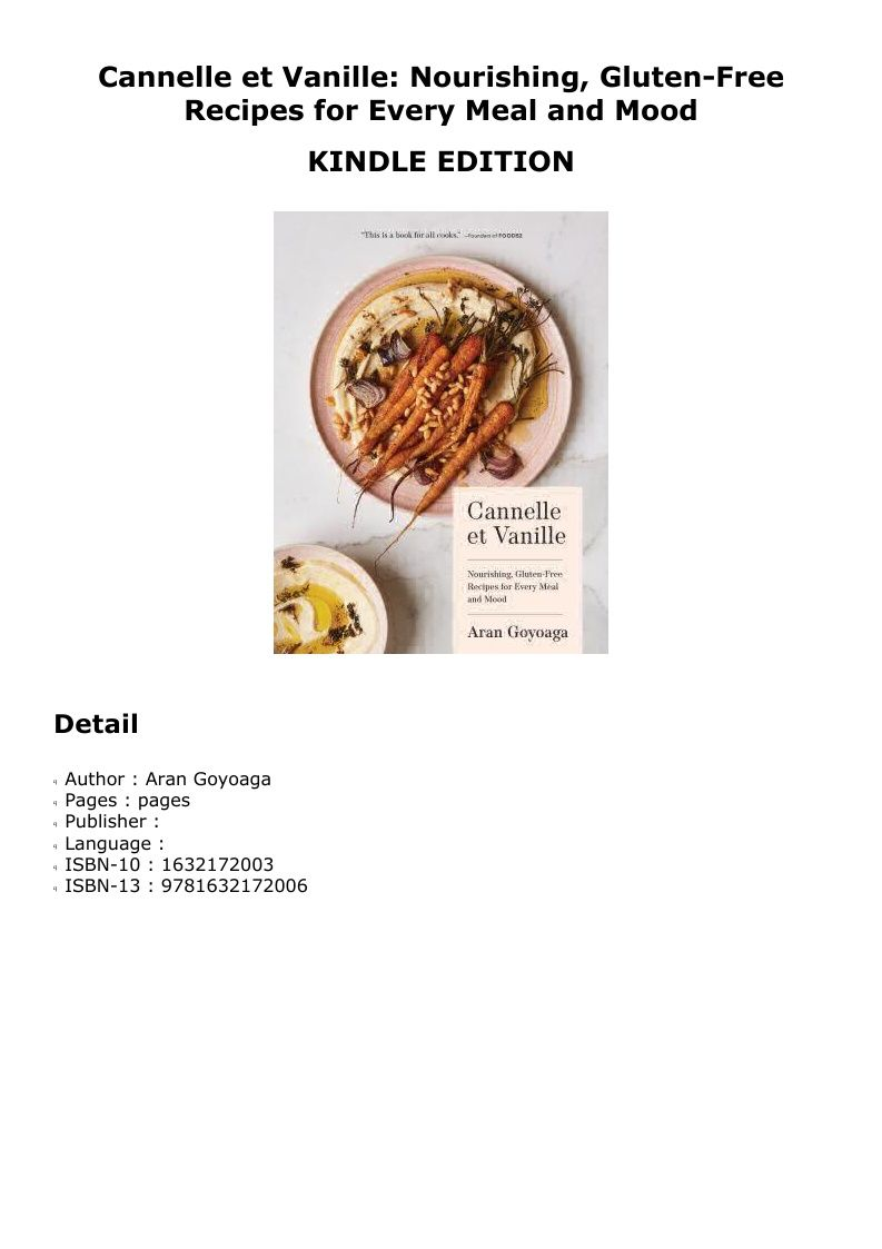 Pdf Cannelle Et Vanille Nourishing Gluten Free Recipes For Every Meal And Mood Recipes Gluten Free Recipes Meals
