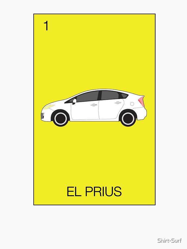 El Prius Hybrid Electric Car Mexican Loteria Deisgn Ev Eco Gray Environmental Leaf Zero Emissions Taycan T Shirt By Shirt Surf In 2020 Prius Hybrid Prius Electric Cars