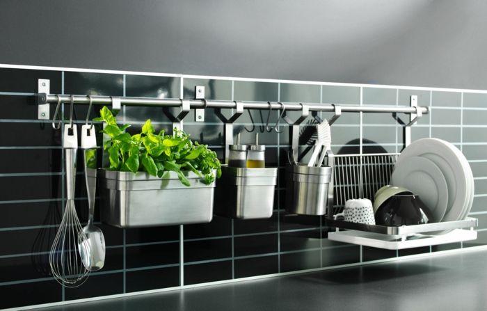 nice kleine küche einrichten optimale raumnutzung ikea stange Check - ikea kleine küchen