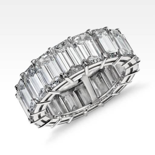 EXTRAORDINARY COLLECTION Emerald Cut Diamond Eternity Ring in Platinum (10.00 ct. tw.)