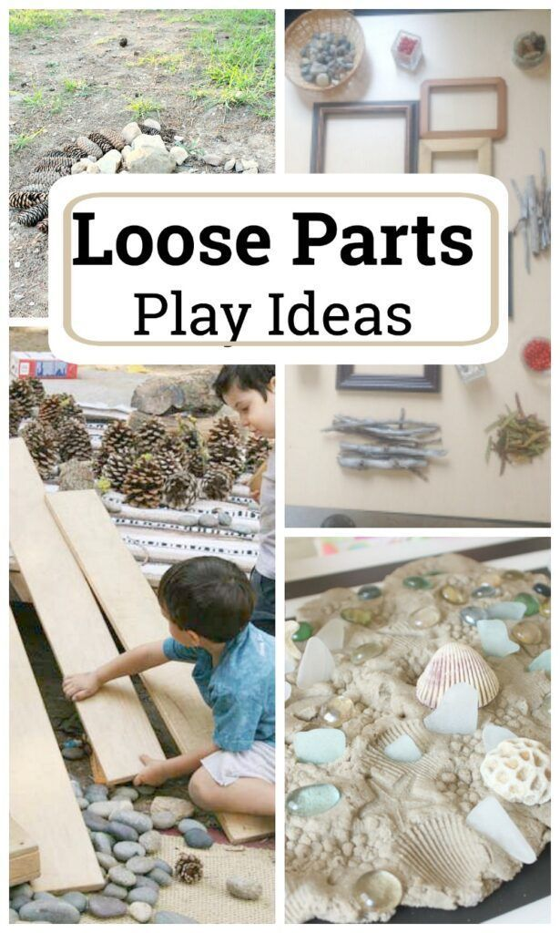 Loose Parts Play Ideas #creativeartsfor2-3yearolds
