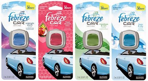 Febreze Car Vent Clips, Only $0.79 at Target