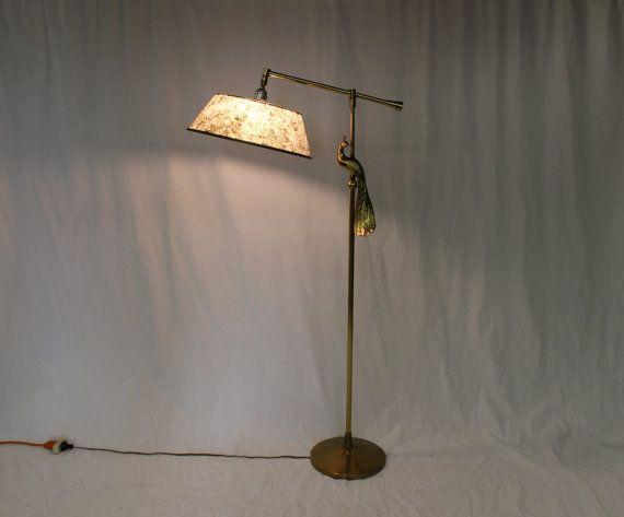 Mid Century Modern Rembrandt Peacock Floor Lamp Vintage Lamps