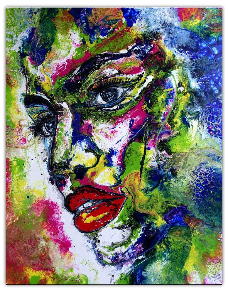 Wandbild Amazone 80x100 Malerei Gesicht Abstrakt In 2020