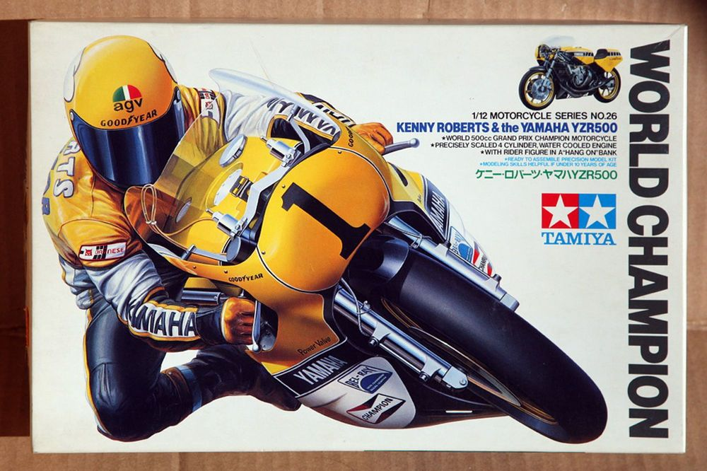 Tamiya 1 12 Kenny Roberts Yamaha YZR500 World Champion Model