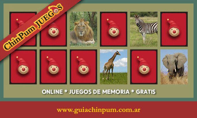Juego De Memoria Para Ninos Con Animales De La Selva Juegos