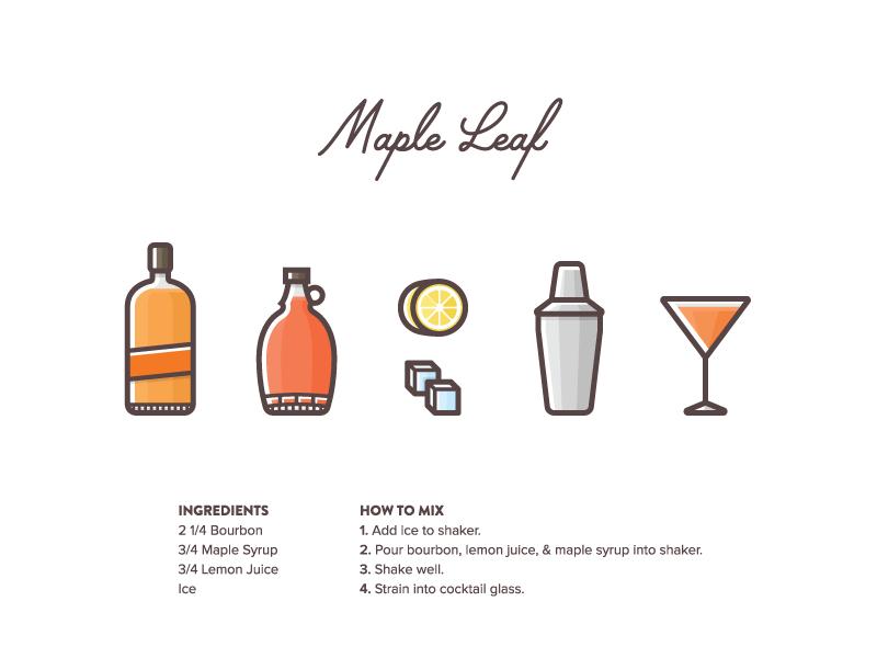 Graphic Design Blog Photo Cocktail Illustration Graphic Design Blog Maple Leaf