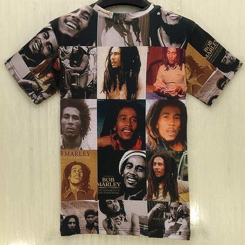 classical Bob Marley 3D print Casual T-Shirt Fashion Women Men Short Sleeve Tops