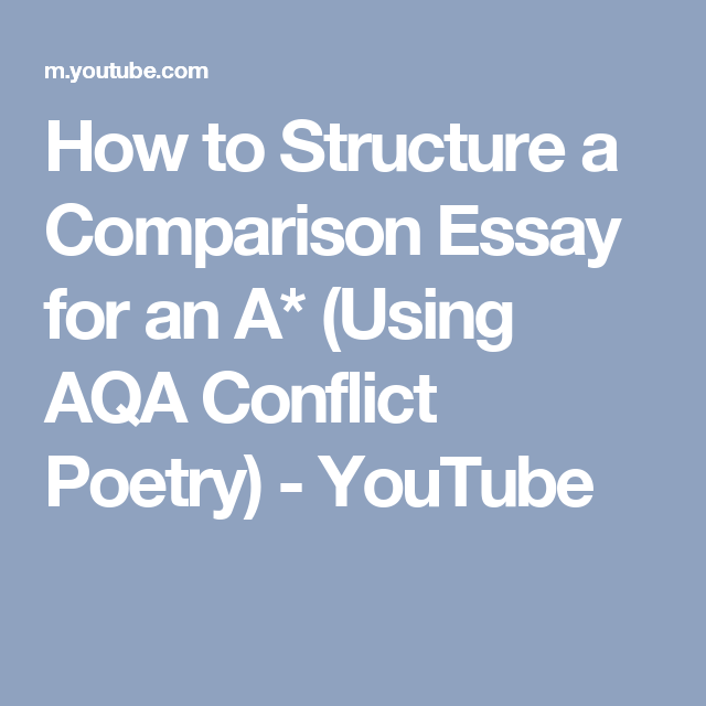 how to start a poetry comparison essay