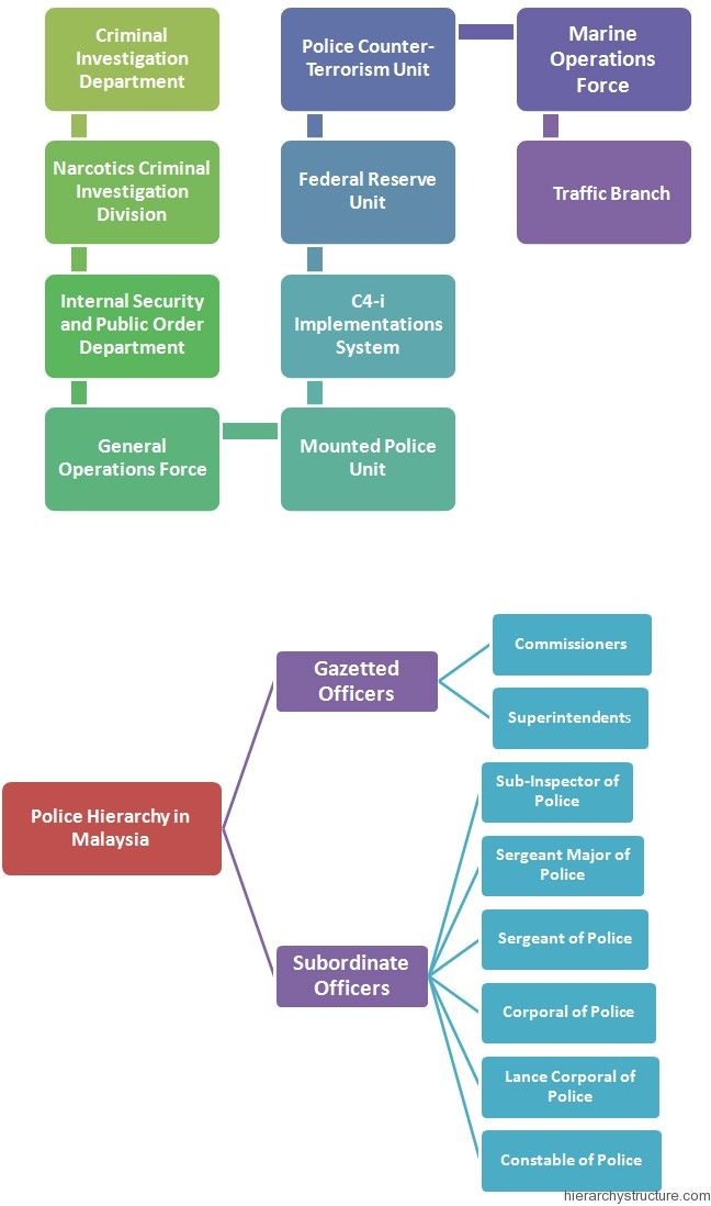 the hierarchy of power in the police department Southern california police departments try to keep things simple we don't have all the military ranks like colonel or major and we don't have east coast or.