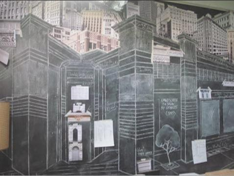 Architecture Drawing 500 Days Of Summer i love the chalk wall from tom's bedroom in the movie 500 days of