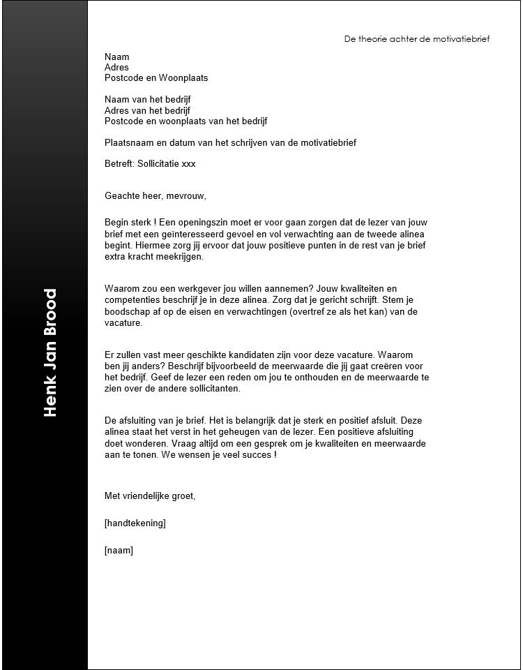 tips motivatiebrief sollicitatie Afbeeldingsresultaat voor voorbeeld motivatiebrief sollicitatie