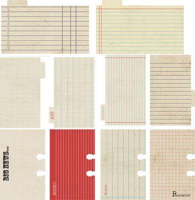 Lily Bee Cha Preview Memorandum Collection Scrapbook Printables Design Rolodex