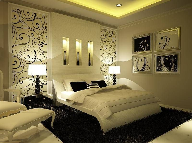 White And Black Romantic Bedroom | Bedroom designs for ...