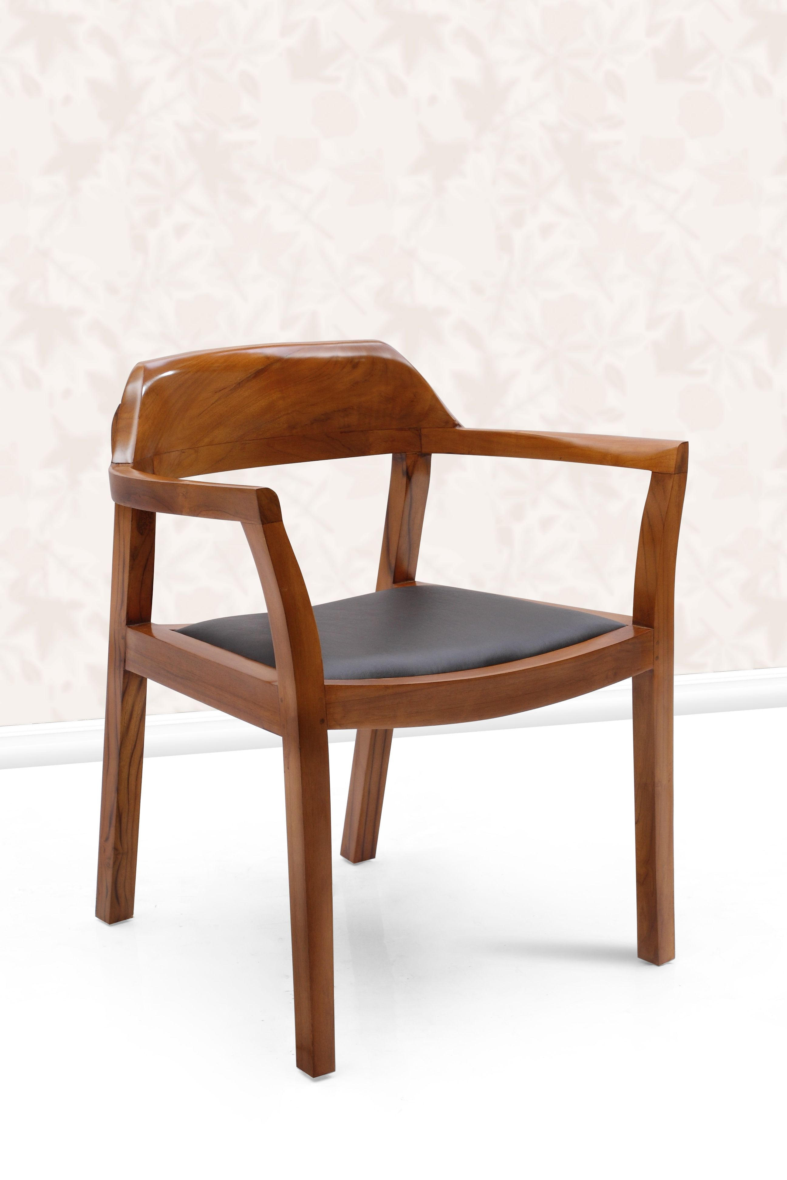 Teak Wood Dining Chair With Leather Seat Available At Casateak Malaysia Teakwood Diningchairs Teakwoodchairs Teakfurniture Woodfurniture