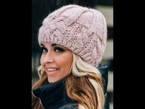 hat - models - 2019 / knitted hat with knitting needles - ... Knitted hat - models - 2019 / knitted