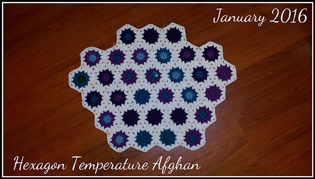 Ravelry: jackieinmi67\'s 2016 Hexagon Temperature Afghan | Crochet ...