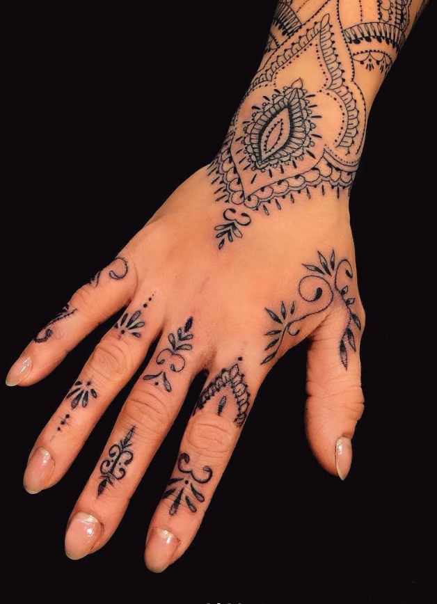 Meaningful Tribal Hand Tattoos For Females