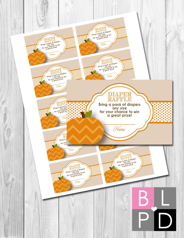 instant little pumpkin diaper raffle tickets little instant little pumpkin diaper raffle tickets little pumpkin baby shower tan and