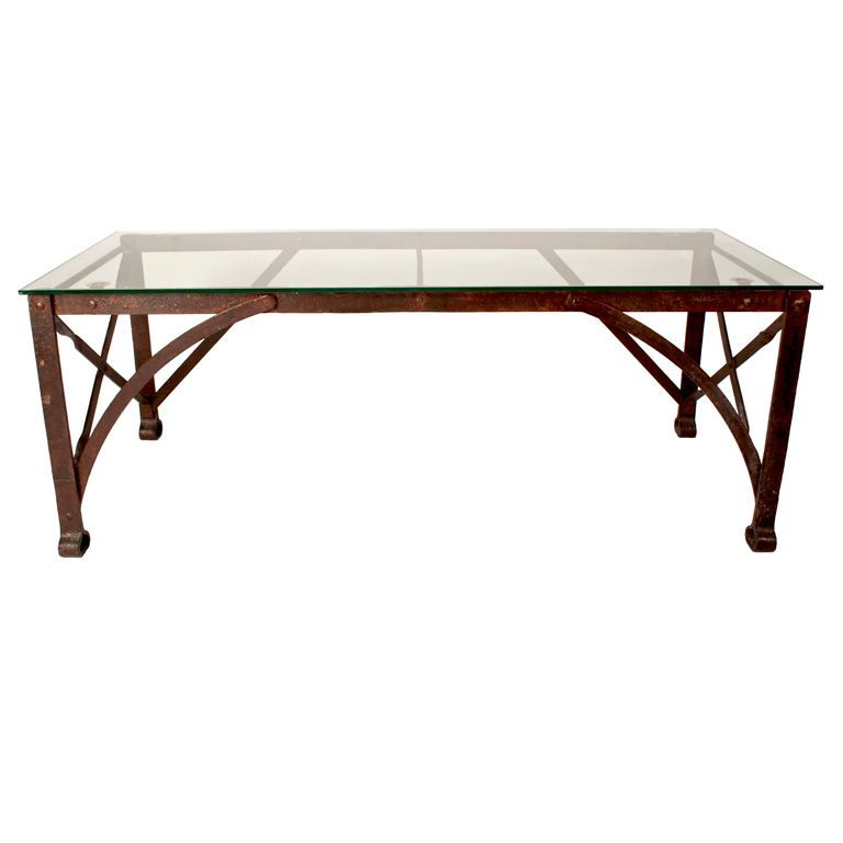 French Industrial Coffee Table From a unique collection of antique