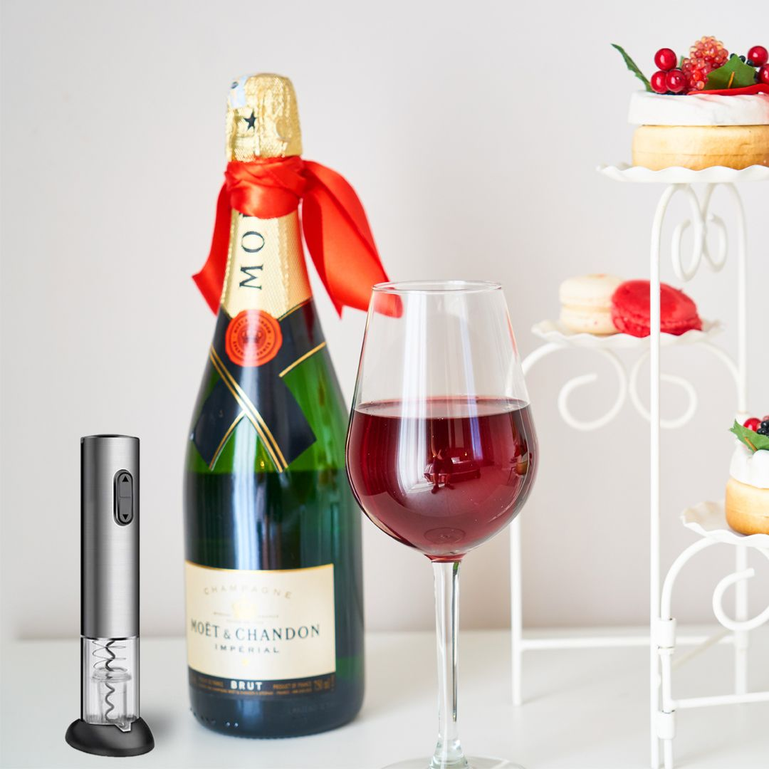 An Electric Vacuum Wine Bottle Opener Cheers Wine Bottle Opener Wine Bottle Wine