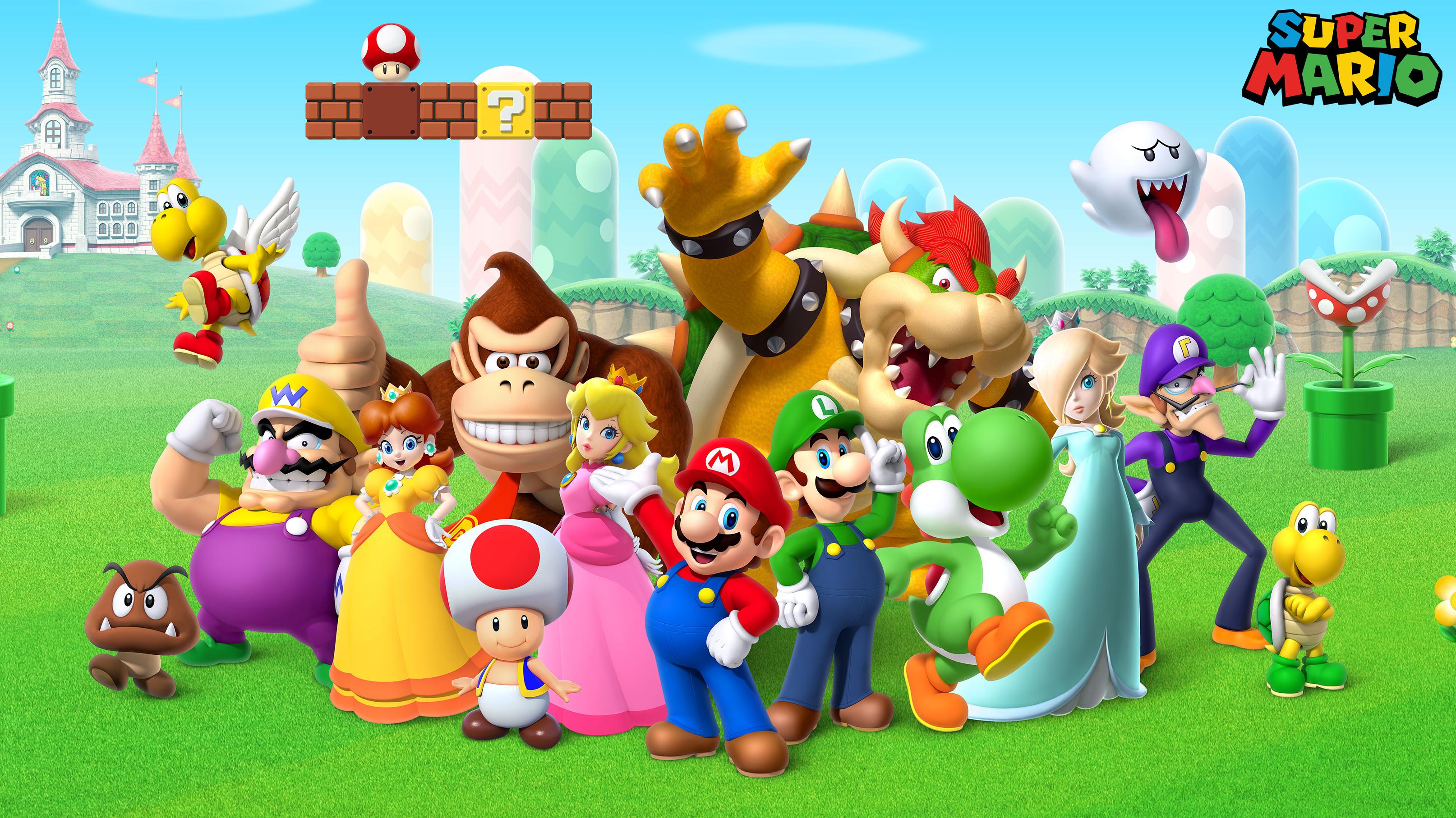 Super Mario Goomba Wario Koopa Daisy Donkey Kong Toad