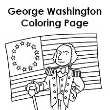 George Washington Coloring Page Happy Birthday George