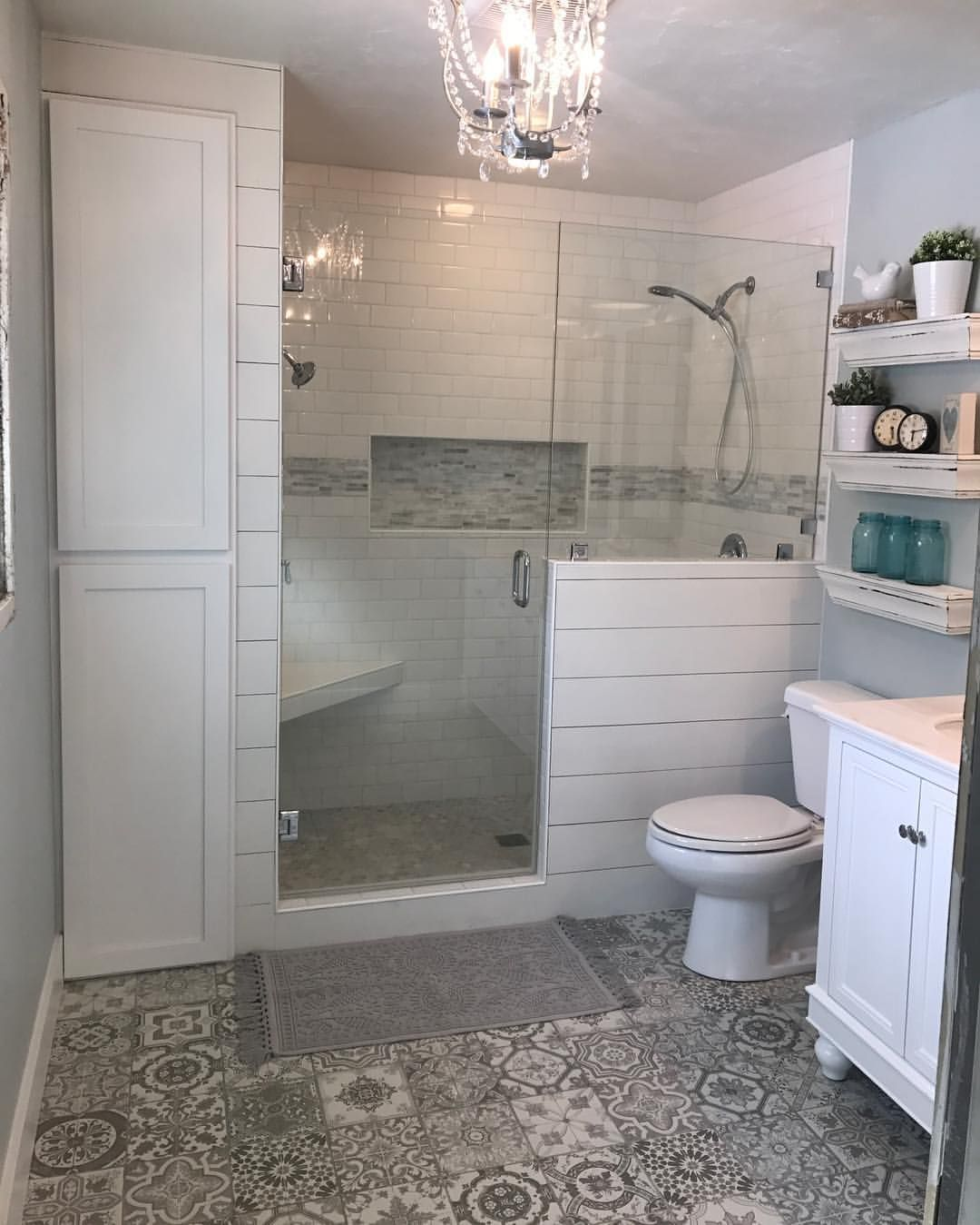 Current Flip House Master Bath After 70 S Colonial To Farmhouse Flip It Is Beyond E Budget Bathroom Remodel Bathrooms Remodel Bathroom Remodel Master New concept colonial home bathroom