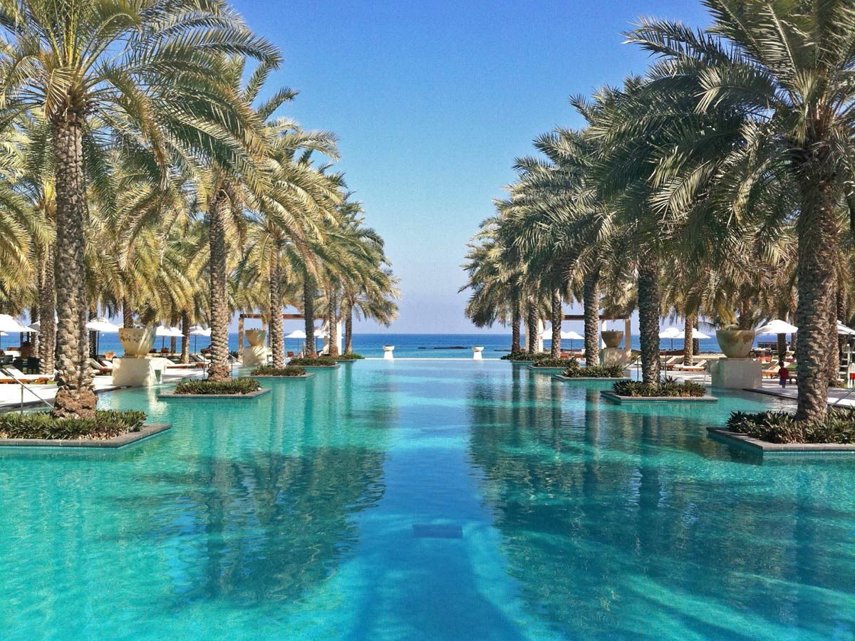 14 Of The World S Most Outrageous Hotel Pools Hotel Pool Ritz Carlton Hotel Oman Hotels