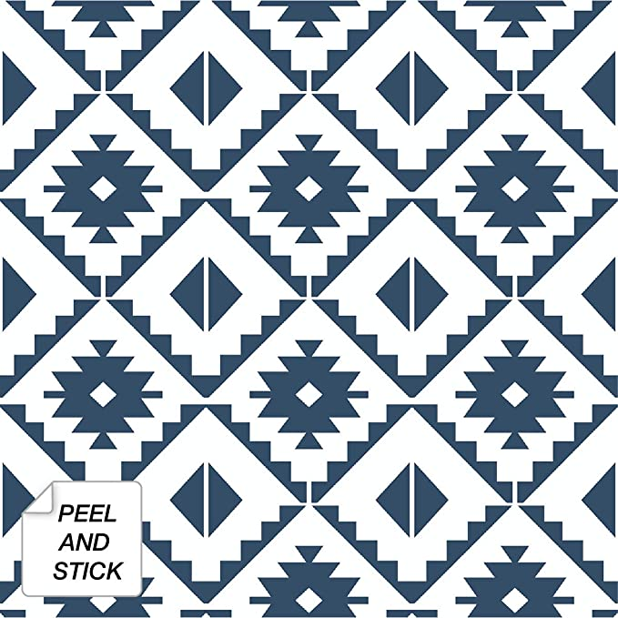 Pin By Lindsey Beaver On Wallpaper In 2020 Peel And Stick Wallpaper Vinyl Tile Navy And White