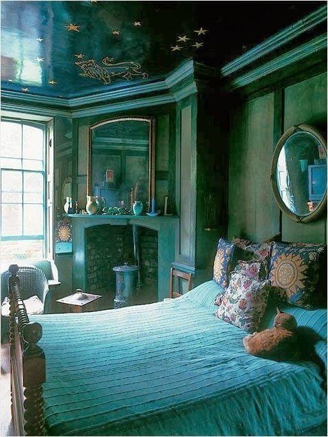 Bohemian Vintage | Bedroom green, Home bedroom, Home